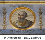 Small photo of ROME, ITALY - SEPTEMBER 05: image of Pope John XVIII was Pope from January 1004 to his abdication in June 1009, basilica of Saint Paul Outside the Walls, Rome, Italy on September 05, 2016.