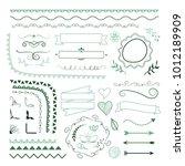 set of different vector... | Shutterstock .eps vector #1012189909