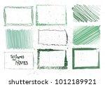 set of empty hand drawn frames... | Shutterstock .eps vector #1012189921