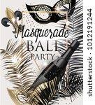 masquerade party invitation... | Shutterstock .eps vector #1012191244