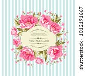 luxurious vintage card of color ... | Shutterstock .eps vector #1012191667