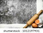 baking background. a frame of... | Shutterstock . vector #1012197931