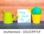 colorful plasticine globe in a...   Shutterstock . vector #1012199719