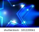 vector blue shiny star... | Shutterstock .eps vector #101220061