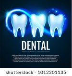 shining helthy tooth with... | Shutterstock .eps vector #1012201135