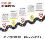navigation winding road vector... | Shutterstock .eps vector #1012203451