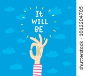positive quote about all be... | Shutterstock .eps vector #1012204705
