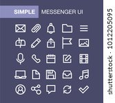 set of messenger icons for...