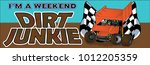 speedway racing bumper sticker | Shutterstock .eps vector #1012205359