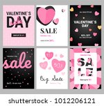 collection of pink  white... | Shutterstock .eps vector #1012206121