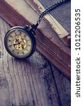 vintage antique pocket watch... | Shutterstock . vector #1012206535