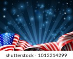 an american flag patriotic or... | Shutterstock . vector #1012214299
