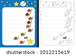 preschool worksheet for... | Shutterstock .eps vector #1012215619