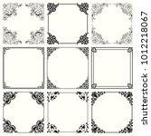 decorative frames  set 57    Shutterstock .eps vector #1012218067