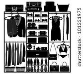 closet wardrobe cupboard cloth...