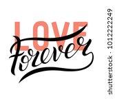 forever love typography for... | Shutterstock .eps vector #1012222249