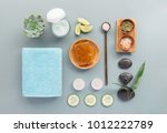 from above different products...   Shutterstock . vector #1012222789