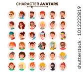 people avatars set vector. ... | Shutterstock .eps vector #1012222819