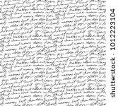 black handwritten text on white ... | Shutterstock .eps vector #1012223104