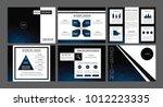 presentation slides background... | Shutterstock .eps vector #1012223335