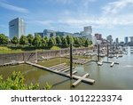 view of the urban harbor of... | Shutterstock . vector #1012223374