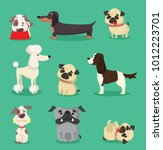 vector illustration set of cute ... | Shutterstock .eps vector #1012223701