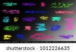 glitch elements set. computer... | Shutterstock .eps vector #1012226635