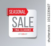 red abstract sale banner.... | Shutterstock .eps vector #1012230607