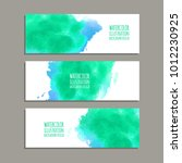 vector banner shapes collection ... | Shutterstock .eps vector #1012230925