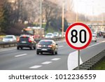 80km H Speed Limit Sign With A...