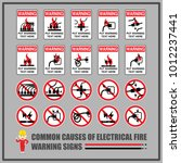 set of safety warning signs and ... | Shutterstock .eps vector #1012237441