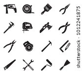 repairman icons. black flat... | Shutterstock .eps vector #1012241875