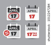 set of usa tax day reminder... | Shutterstock .eps vector #1012247284