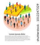 people related to share market. ... | Shutterstock .eps vector #1012247329