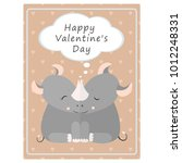 valentine's day greeting... | Shutterstock .eps vector #1012248331
