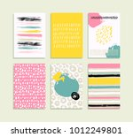 trendy set of brush strokes... | Shutterstock .eps vector #1012249801