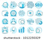 modern linear pictogram of seo... | Shutterstock .eps vector #1012250329