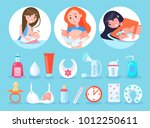 women and items collection ... | Shutterstock .eps vector #1012250611