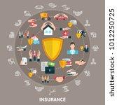 insurance of business  health ... | Shutterstock .eps vector #1012250725