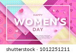 trendy geometric women s day... | Shutterstock .eps vector #1012251211