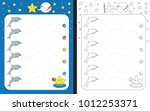 preschool worksheet for... | Shutterstock .eps vector #1012253371