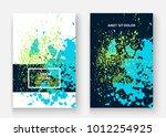 neon cyan greenery explosion... | Shutterstock .eps vector #1012254925