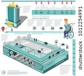 social info graphic map of city ... | Shutterstock .eps vector #1012254991