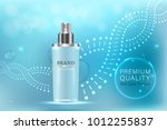 cosmetic container with...   Shutterstock .eps vector #1012255837