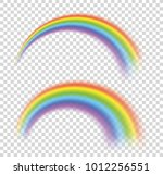 rainbows in different shape... | Shutterstock .eps vector #1012256551