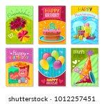 set of celebration birthday... | Shutterstock .eps vector #1012257451