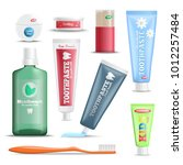 dental hygiene oral care... | Shutterstock .eps vector #1012257484