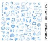 social media  digital marketing ... | Shutterstock .eps vector #1012258147