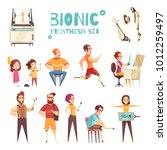 active people with bionic... | Shutterstock .eps vector #1012259497