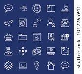 internet outline vector icon... | Shutterstock .eps vector #1012265941